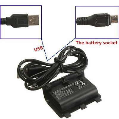 2x 2400mAh Rechargeable Battery Pack for Xbox One Controller + USB Cable Hot z!