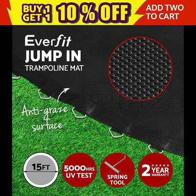 15ft Replacement Trampoline Mat Spring Round Spare Part Backyard Garden Outdoor