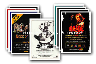 AC/DC  - 10 promotional posters  collectable postcard set # 2
