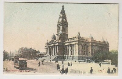 Hampshire postcard - Portsmouth Town Hall