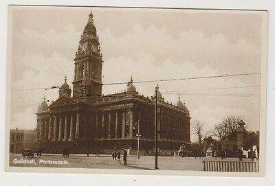 Hampshire postcard - Guildhall, Portsmouth - RP