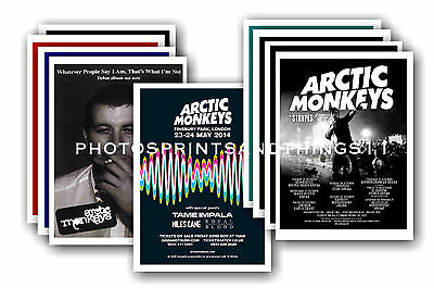 ARCTIC MONKEYS  - 10 promotional posters  collectable postcard set # 1