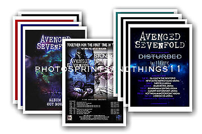 AVENGED SEVENFOLD  - 10 promotional posters  collectable postcard set # 1