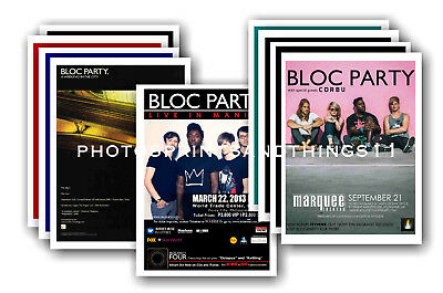 BLOC PARTY  - 10 promotional posters  collectable postcard set # 1