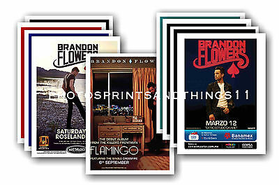 BRANDON FLOWERS  - 10 promotional posters  collectable postcard set # 1