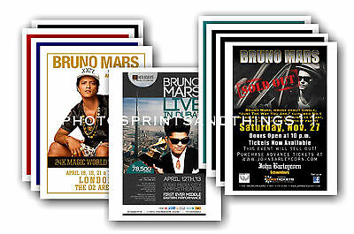 BRUNO MARS  - 10 promotional posters  collectable postcard set # 1
