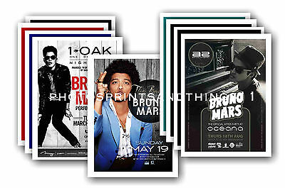 BRUNO MARS  - 10 promotional posters  collectable postcard set # 2