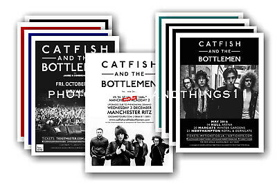 CATFISH & THE BOTTLEMEN - 10 promotional posters  collectable postcard set # 1