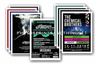 CHEMICAL BROTHERS - 10 promotional posters  collectable postcard set # 1
