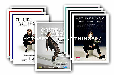 CHRISTINE & THE QUEENS - 10 promotional posters  collectable postcard set # 1