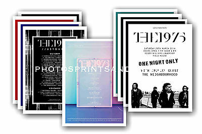 THE 1975 - 10 promotional posters  collectable postcard set # 1