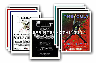 THE CULT - 10 promotional posters  collectable postcard set # 1