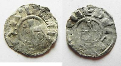 Zurqieh -Aa7351- Crusaders State Of Jerusalem. Baldwin Silver Denier