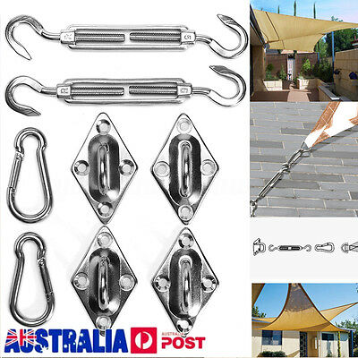 8X 304 Stainless Steel Sun Shade Sail Hardware Kit Accessory for Triangle Sails