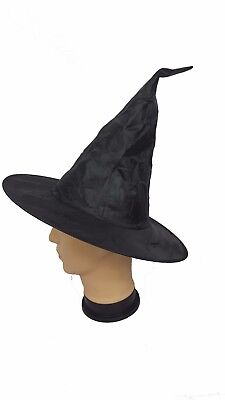 Witches Hat Halloween Adult Black Witches Hat Fancy Dress Horror Spooky