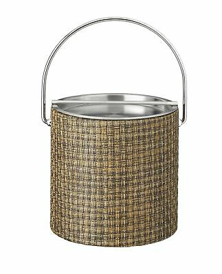 Kraftware Woven 3 Qt. Ice Bucket with Metal Bar Lid