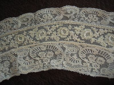 Antique Victorian Off White Alencon Mixed Lace Collar