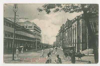 Ceylon, York Street Towards Landing Jetty, Colombo Postcard, B239
