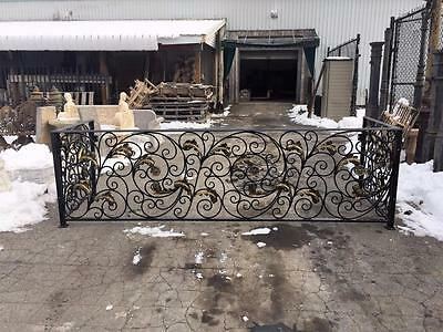 The Best Hand Made Wrought Iron Victorian Style Estate Balcony Railings - Rk5