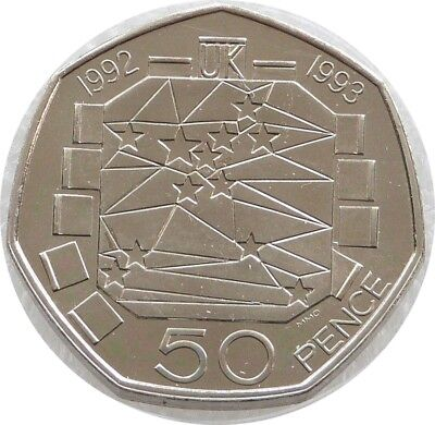 1992 - 1993 Royal Mint European Presidency 50p Fifty Pence Coin Uncirculated