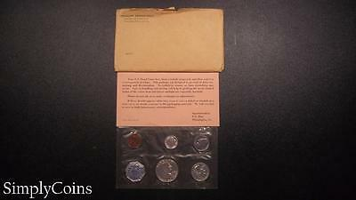 1962 Proof Set ~ Original Envelope With COA ~ US Mint Silver Coin Lot SKU-457