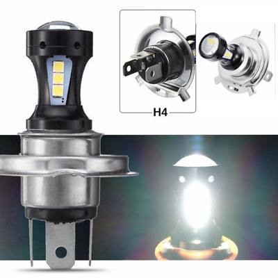 H4 Motorcycle 3030 LED Hi-Lo Beam Headlight Head Light Lamp Bulb 6500K 12-24v