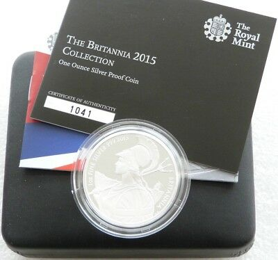 2015 Royal Mint Britannia £2 Two Pound Silver Proof 1oz Coin Box Coa