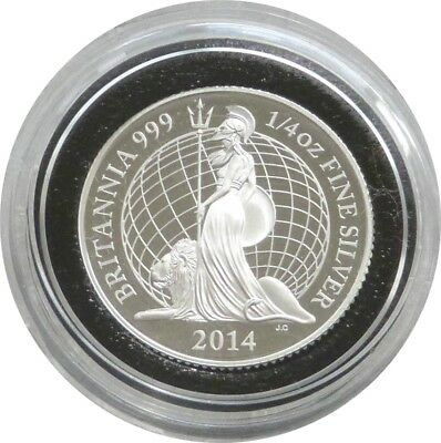 2014 British Royal Mint Britannia 50p Fifty Pence Silver Proof Coin