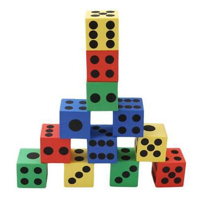 12pcs 6 Sided Foam Dices Kids Board Game Party Educational Toys CB