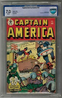 Captain America Comics #40 CGC 7.0 (W) 1st Appearance & Death of the Jester