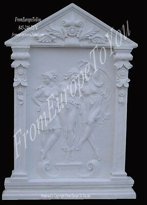 Great Hand Carved Pr.marble Figural Wall Relief Fdr0044