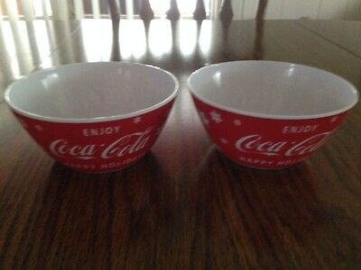 """Coca Cola """"happy Holidays"""" Plastic Snack Bowls - New With Tag"""