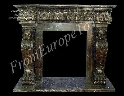 Beautiful Hand Carved Marble Fireplace Mantel #tle9
