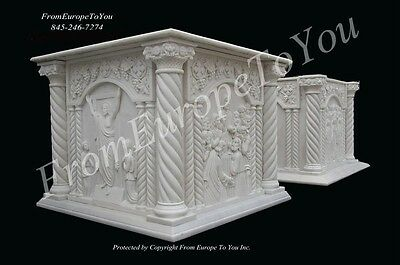 2 Great Hand Carved Marble Church Podiums Pdm1