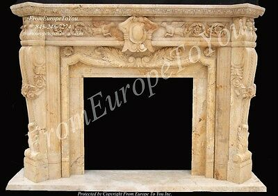 Hand Carved Marble Classical Fireplace Mantel Mnt6