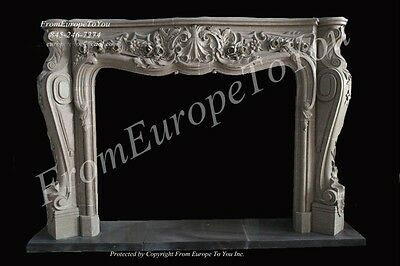 Nice Hand Carved Marble French Style Fireplace Mantel #mbf101-3