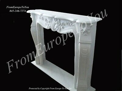 Carved Marble French Style Fireplace Mantel Mbf056/2