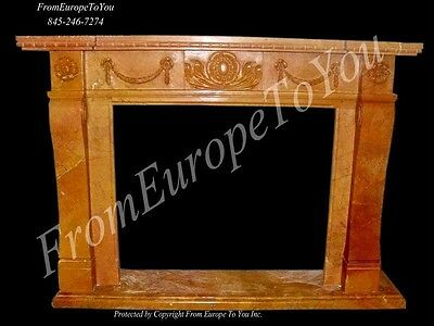 Hand Carved Marble Classical Fireplace Mantel Tle2