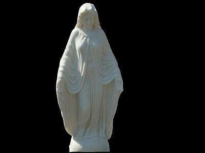 Hand Carved Solid Marble Mother Mary Statue Ns959