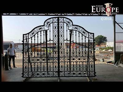 Beautiful Cast - Wrought Iron Hand Made 13'  Estate Driveway Gates - Smsg1