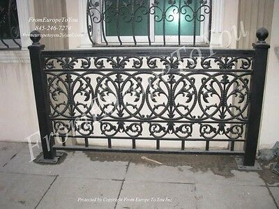 Nice Solid Cast Iron Victorian Fence Panel System Nb21