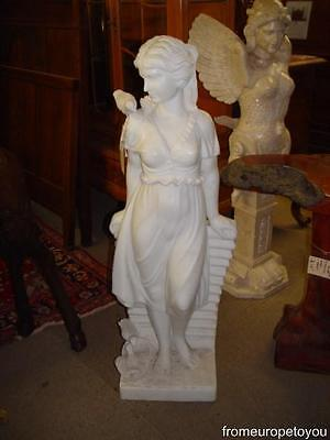 Beautiful Hand Carved Marble Figural Lady Statue B14