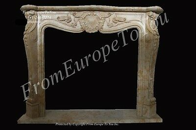 Nice Hand Carved Marble French Style Fireplace Mantel