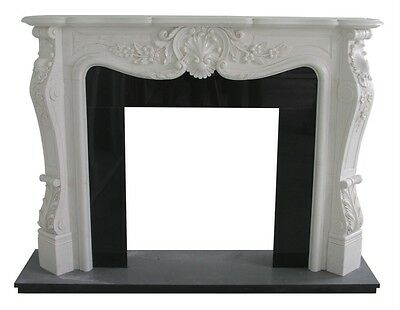 Hand Carved Marble French Style Fireplace Mantel Fp124