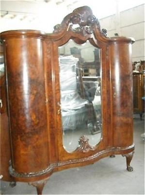 Chippendale Italian Antique Bombay Walnut Bedroom Set  Armoire - 11It046A