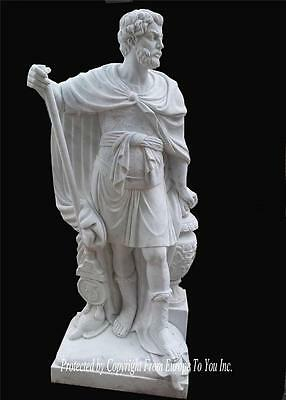 Wonderful Hand Carved Marble Roman Figural Estate Statue - St87