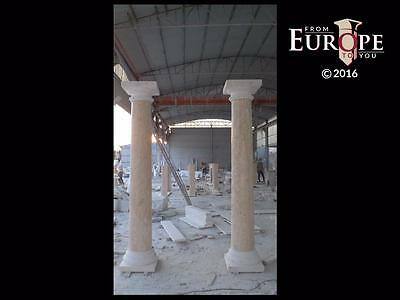 Beautiful Hand Carved Marble Estate European Style Columns - Bc1