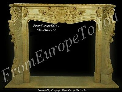 Beautiful Hand Carved French Style Fireplace Mantel - Mbf095