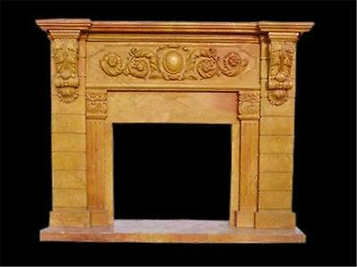 Hand Carved Marble Classical Fireplace Mantel Tle34