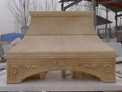 Hand Carved Marble Kitchen Stove Hood - Sh1